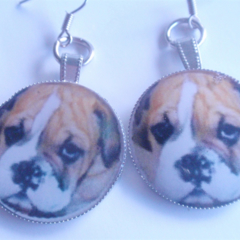 Boxer Pup earringsFree Postage