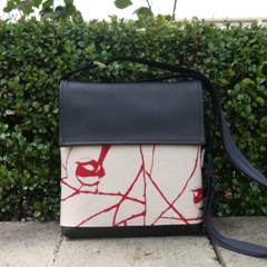 Mini Satchel - Wrens - Deep Red - Free Shipping