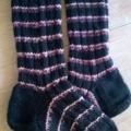 Hand-knitted Wool Socks, - Medium, sizes 39-42