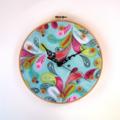 Multicolour Feather Clock