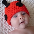 Lady Beetle Hat / Lady Bug Beanie - Newborn to 3 Months / Photography Prop
