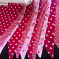 Vintage Inspired BUnting Flags - Cherry Pie