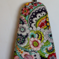 Ironing Board Cover - Red, green and charcoal floral tattoo