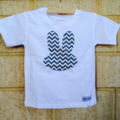 Boy Easter chevron bunny Tee sz 2-5