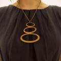 Statement necklacea in eco friendly wood pendant