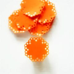Orange Doily Seals {10} | Orange Envelope Seals | Baby Shower Announcement