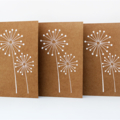 Set of 3 Flower Embossed Cards Birthday Mothers Day Baby Shower Wedding