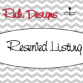 Reserved Listing for Chaya