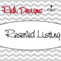 Reserved Listing for Megan