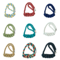 Knotted Cord Necklace - Various Colours