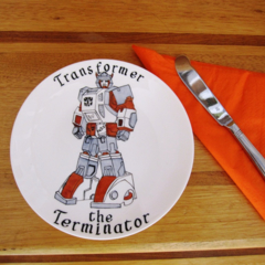 Hand Painted, small bone china plate for a boy!