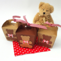 Teddy Bears Picnic Mini gift boxes. First birthday party, baby shower.
