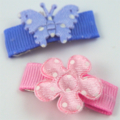 Flower and Butterfly baby snap hair clips