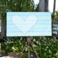 RECLAIMED TIMBER WALL SIGN WEDDING DECORATION HOME SHOP HOLDS 50 LIGHTS