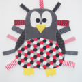 Cute penguin taggie (various  black/red/white patterns to choose from)