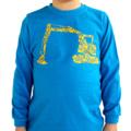 Digger/Construction blue long sleeved T-shirt