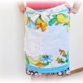 Blue Half Apron With Pocket For Women Aqua Vintage Shabby Chic Boho Retro Tropic