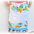 Blue Half Apron With Pocket For Women Aqua Vintage Shabby Chic Boho Retro Tropic