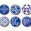 Magnet set - 6 China blue magnets