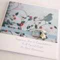Anniversary Custom card personalised boxed vintage bird Wife Husband love