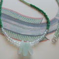 Beach Glass Long Beaded Necklace