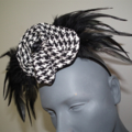Tribal Independance..SALE Trending Headwear Millinery Fascinator Black White