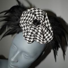 Tribal Independance..SALE Trending Headwear Millinery Fascinator Black White