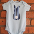 Bunny  applique onesie,size 00 perfect for Easter.