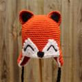 Fox hat - Baby / Toddler Sizes - 0 months - 5 years - Crochet Beanie