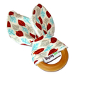 Wooden Teething Toy and Bunny Ears Leaves, Gender Neutral, Boy, Girl