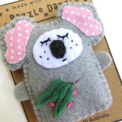 Koala Finger puppet - Felt Australian Animal