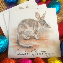Easter cards bundle of 3, featuring the Bilby, includes DONATION, gift cards,