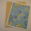 Blue Dragonfly - Blank Greeting Card & Envelope