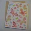 Glitterfly - Blank Greeting Card & Envelope