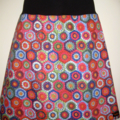 Colourful Crochet-look Skirt with Bamboo Stretch Waist