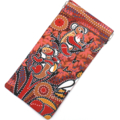 Padded Sunglasses Pouch in Aboriginal Dot Print fabric, kangaroo, koala