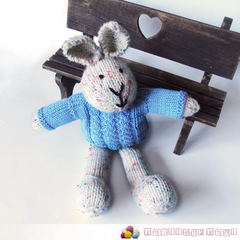 Bailey - Hand Knitted Bunny Rabbit Toy