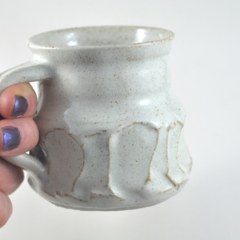 Coffee Cup Ceramic Handmade White Speckled Bone  Unique Pottery Tableware