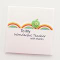 teacher thank you card rainbow