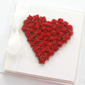 Anniversary Love card heart blank boxed red roses Valentine Husband Wife
