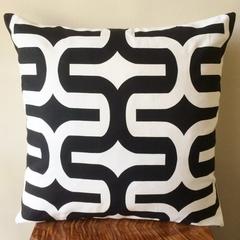 Retro Black & White Embrace Cushion Cover  - 45cm Retro Cushions