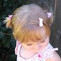 Sweet pink 3pk toddler pigtail hair set.