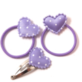 Purple hearts 3pk baby/ toddler pigtail hair set.