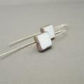 Custom Listing for Danielle - Chalk White Square Czech Glass Earrings