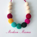 Modern Mama crochet  necklace
