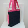 Mini Tote Bag - Pink Gathered