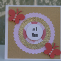 # 1 Mum Gift Card ~  Card for Mum ~ Mum's Birthday Card