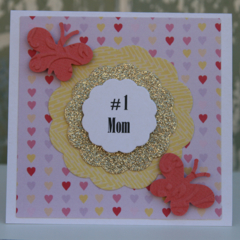 Mother's Day Card for Mum Number 1 Mom Ready to Post