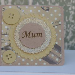 Card for Mum ~ Lover of Sewing ~ Christmas Card for Mum ~ Mum's Birthday
