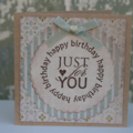Just for you Birthday Card Mini Card Card for Bestie
